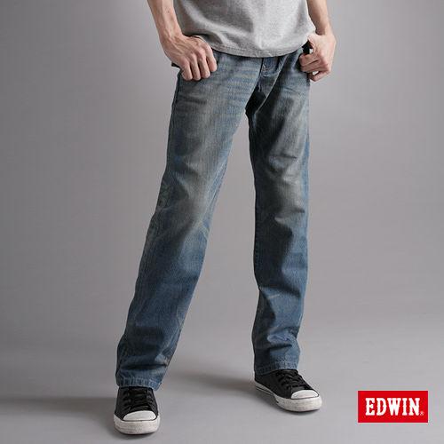 EDWIN XV直筒牛仔褲-男-漂淺藍