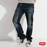 EDWIN E-FUNCTION 窄直筒牛仔褲-男-中古藍