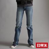 EDWIN BLUE TRIP寬直筒牛仔褲-女-漂淺藍