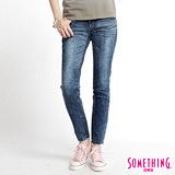 SOMETHING STORYⅢ塑腿超窄直筒牛仔褲-女-拔洗藍