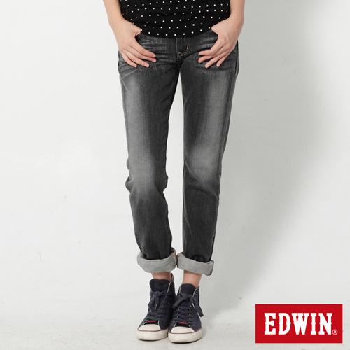 EDWIN MISS 505立體繡AB牛仔褲-女-灰色