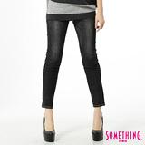 SOMETHING STORYⅢ塑腿超窄直筒牛仔褲-女-黑色