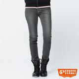 5th STREET 1965伸縮窄直筒牛仔褲-女-淺灰色