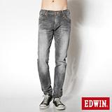 EDWIN B.T 麂皮剪接窄直筒褲-男款(灰色)