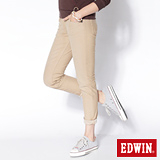 EDWIN 革命性 503迦績褲 JERSEYS圓織牛仔褲-女-淺卡其