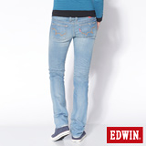 EDWIN MISS EG503窄直筒牛仔褲-女-石洗藍
