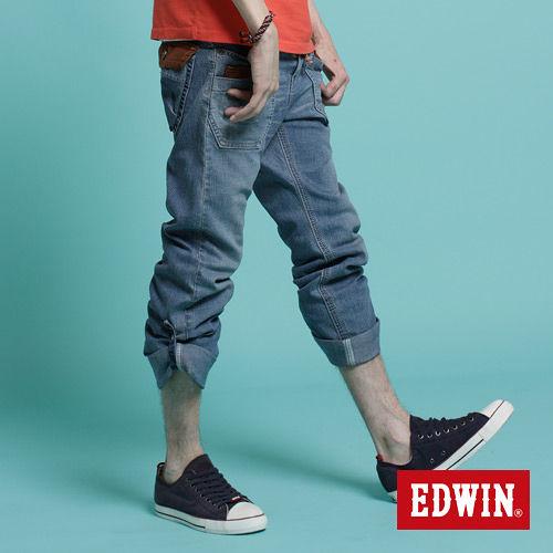 【EDWIN】隨性釋放 XV EASY PANT休閒褲-男款(漂淺藍)