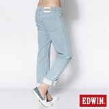 EDWIN 大尺碼 503 COOL RELAX中直筒牛仔褲-男-重漂藍