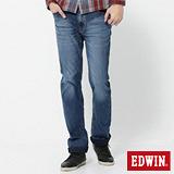 EDWIN 503迦績褲 JERSEYS針織中直筒牛仔褲-男-石洗綠