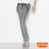 5th STREET 拉鍊直筒牛仔褲-女-灰色