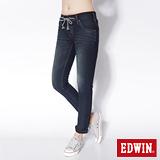 EDWIN 503迦績褲 JERSEYS圓織直筒牛仔褲-女-原藍磨