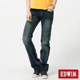 EDWIN MISS 503RV中直筒牛仔褲-女-拔淺藍