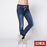 EDWIN 503迦績褲 JERSEYS圓織直筒牛仔褲-女-石洗綠