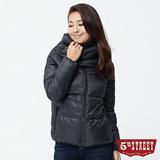 5th STREET 矚目關鍵 大翻領造型羽絨外套-女款(黑色)