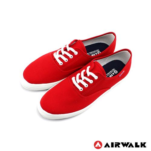 AIRWALK(女) - 帆布鞋 SWEET繽紛輕柔感 純棉帆布鞋 - 蘋果紅