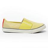 AIRWALK(女) - LOGO 圖騰 懶人式直套帆布鞋 - 黃
