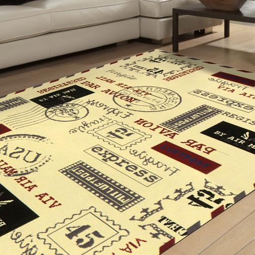 范登伯格 紐約★流行元素進口地毯-郵戳160x225cm
