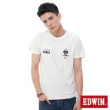 EDWIN 江戶勝富士山口袋T恤-男-米白色
