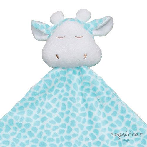 美國 Angel Dear 大頭動物嬰兒毛毯 (青綠色長頸鹿)