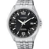 CITIZEN Eco-Drive光動能萬年曆電波錶-黑/43mm CB0011-77E