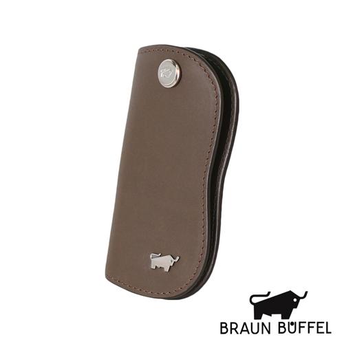 BRAUN BUFFEL 極簡系列素面單鎖包(粟色)BF179-311-CHE