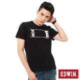 EDWIN LOGO運動風短袖T恤-男-黑色