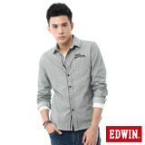 EDWIN INDIGO靛染直條紋襯衫-男-丈青色