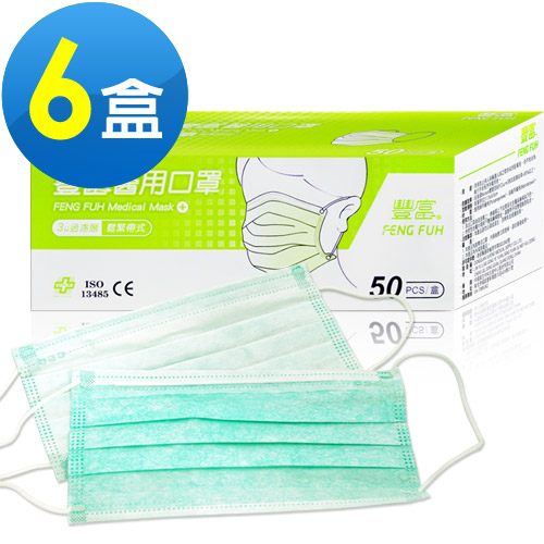 豐富 醫用平面防塵口罩(50片/盒) 共6盒