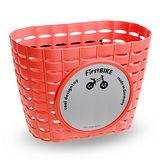 【FirstBIKE】德國設計寓教於樂 滑步車專屬車前籃(紅)