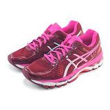 (女)ASICS亞瑟士 GEL-KAYANO 22 慢跑鞋 酒紅/桃紅-T597N2601