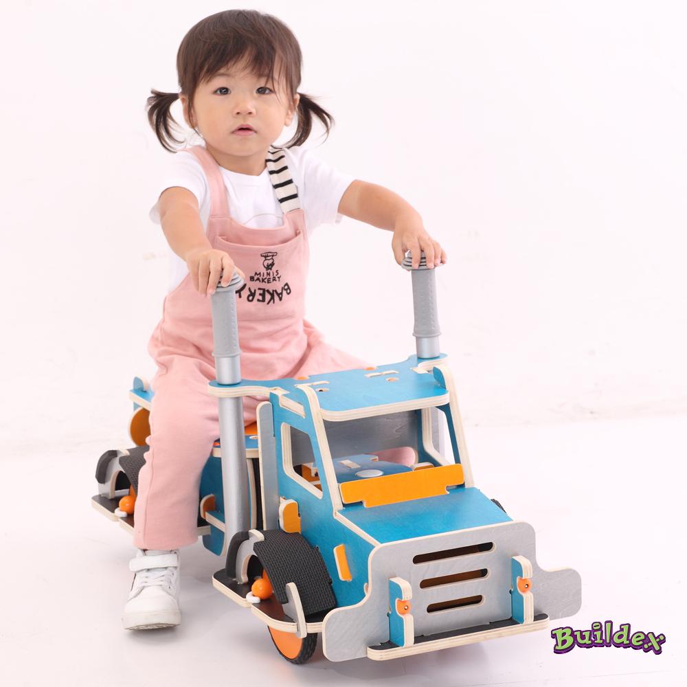 美國 Buildex 純木質騎乘車(勁酷大卡車)