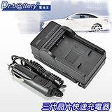 電池王 For Panasonic DMW-BLH7 / BLH7E 智慧型快速充電器+車充 適用DMC-GF7 / GM1