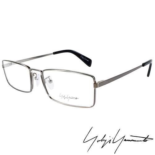 Yohji Yamamoto 山本耀司 時尚前衛方框光學眼鏡-銀-YY3003-914