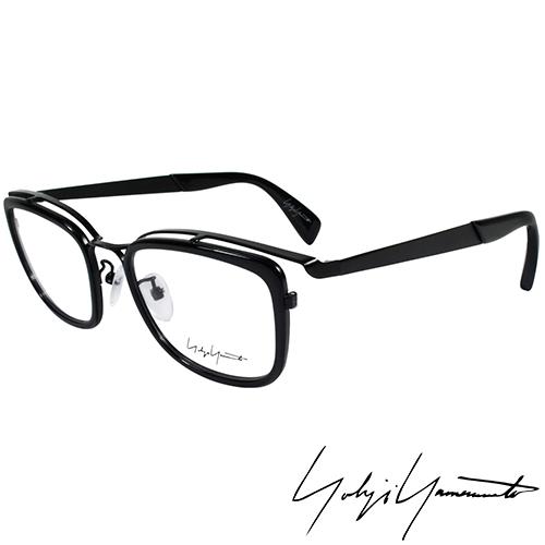 Yohji Yamamoto 山本耀司時尚立體方框造型光學眼鏡-黑 YY1019-019