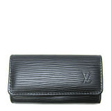 Louis Vuitton LV M63822 EPI 水波紋皮革四扣鑰匙包.黑 預購