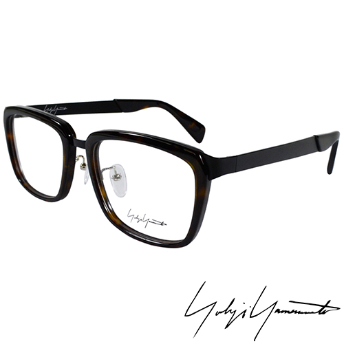 Yohji Yamamoto 山本耀司 方型時尚前衛光學眼鏡-琥珀-YY1021-127