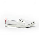 AIRWALK(男) - LOGO 圖騰 懶人式直套帆布鞋 - 白