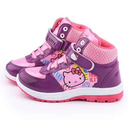 童鞋城堡-Hello Kitty 中大童 高筒運動鞋715157-粉
