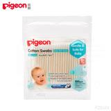 日本《Pigeon 貝親》外出用紙軸棉花棒(細)100支入