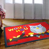 范登伯格 貓頭鷹★PVC吸水刮泥地墊-(紅)60x90cm