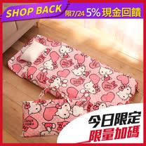 正版授權台灣製 凱蒂貓兒童睡袋