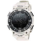 Timberland CADION 系列多功能數位腕錶-白/50mm TBL.13554JPGY/02