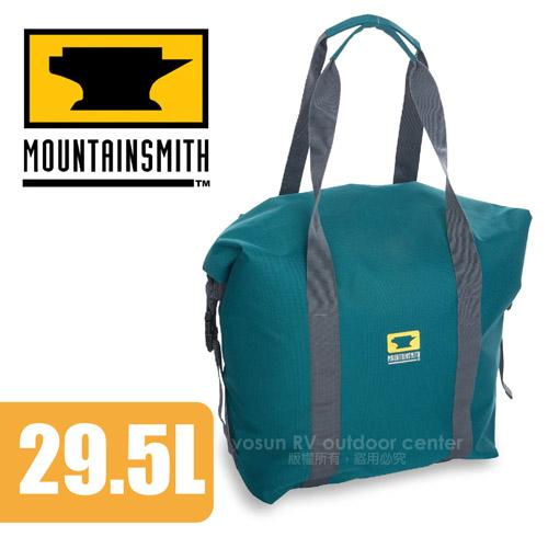 【美國 MountainSmith】Roll Top Cooler Cube Teal 保冰袋(29.5L)/保溫袋.手提包.托特包.旅行袋/適登山健行/藍 D47508050