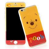 【Disney 】iPhone 6 plus 強化玻璃彩繪保護貼-維尼