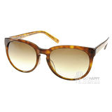 agnes b.太陽眼鏡 時尚微貓眼設計款(琥珀) #AB2816 DW