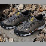 【JHS杰恆社戶外鞋登山鞋】3608深灰牛皮徒步鞋旅遊鞋跑步鞋情侶鞋(FW天翔FLYWALKING)