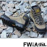 【JHS杰恆社戶外鞋登山鞋】5050卡其牛皮徒步鞋旅遊鞋跑步鞋情侶鞋(FW天翔FLYWALKING)