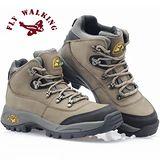 【JHS杰恆社戶外鞋登山鞋】62008卡其牛皮徒步鞋旅遊鞋跑步鞋情侶鞋(FW天翔FLYWALKING)