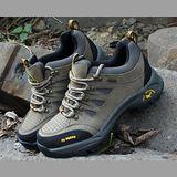 【JHS杰恆社戶外鞋登山鞋】7008卡其牛皮徒步鞋旅遊鞋跑步鞋情侶鞋(FW天翔FLYWALKING)
