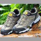 【JHS杰恆社戶外鞋登山鞋】7C卡其牛皮徒步鞋旅遊鞋跑步鞋情侶鞋(FW天翔FLYWALKING)